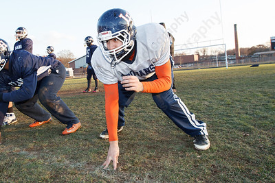 Nick Vendetto Thursday during practice at Lyman Hall High School in Wallingford  Nov 20, 2014 | Justin Weekes / For the Record-Journal