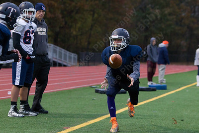 Tuesday as the Trojans prepare for the Carini Bowl at Lyman Hall High School in Wallingford November 14, 2017 | Justin Weekes / For the Record-Journal