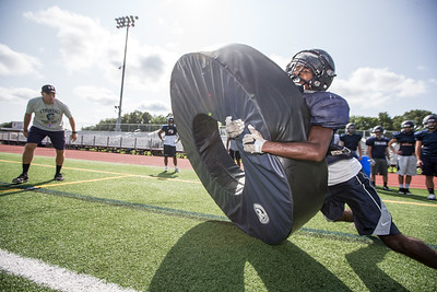 Tuesday during practice at Lyman Hall High School in Wallingford August 21, 2018 | Justin Weekes / Special to the Record-Journal