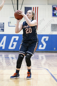 Lyman Hall's Theresa Lynch puts in a jumper in the lane Tuesday during the CIAC Class L first round at Wethersfield High School in Wethersfield February 27, 2018 | Justin Weekes / Special to the Record-Journal