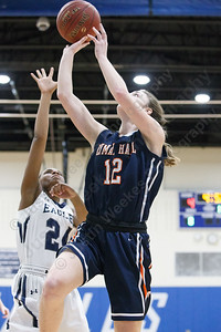 Lyman Hall's Elise Hastings puts in a layup Tuesday during the CIAC Class L first round at Wethersfield High School in Wethersfield February 27, 2018 | Justin Weekes / Special to the Record-Journal