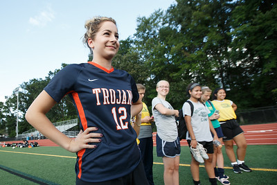 Lyman Hall's Isabelle Stowick Thursday at Fitzgerald Field on the campus of Lyman Hall in Wallingford September 20, 2018 | Justin Weekes / Special to the Record-Journal