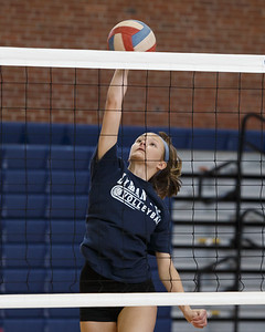 Lyman Hall's Hailey Bruneau Thursday during a scrimmage at Platt High School in Meriden August 30, 2018 | Justin Weekes / Special to the Record-Journal