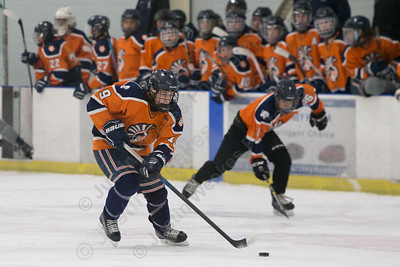 Lyman Hall's Kyle Roberts Tuesday during a pre season scrimmage at Northford Ice Pavilion in Northford  December 12, 2017 | Justin Weekes / For the Record-Journal
