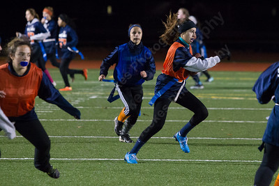 Sunday during powder puff practice at Fitzgerald Field on the campus of Lyman Hall High School in Wallingford November 12, 2017 | Justin Weekes / For the Record-Journal