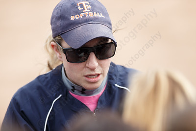 Lyman Hall's Stephanie Lavado-Berghorn starts her first year as head coach Wednesday during a pre-season scrimmage with Choate Rosemary Hall at Lyman Hall High School in Wallingford March 28, 2018 | Justin Weekes / Special to the Record-Journal