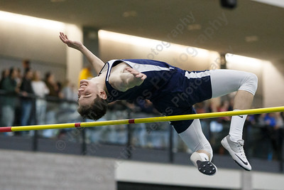 Lyman Hall's Tylor Seamans at high jump Friday during the CIAC Class M Indoor Track Finals at the Floyd Little Athletic Center in New Haven February 9, 2018 | Justin Weekes / Special to the Record-Journal