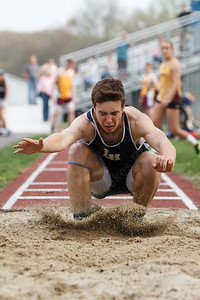 Lyman Hall's Cam Regan Friday at Lyman Hall High School in Wallingford May 4, 2018 | Justin Weekes / Special to the Record-Journal