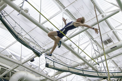 Lyman Hall's Alexandre Fishbein-Ouimette makes an attempt at pole vault Friday during the Indoor Track Finals at the Floyd Little Athletic Center in New Haven February 2, 2018 | Justin Weekes / Special to the Record-Journal