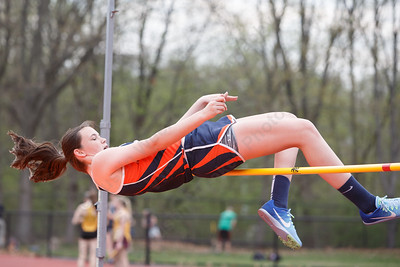 Lyman Hall's Alyssa McComb Friday at Lyman Hall High School in Wallingford May 4, 2018 | Justin Weekes / Special to the Record-Journal