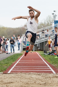 Lyman Hall's Trey Fichera Friday at Lyman Hall High School in Wallingford May 4, 2018 | Justin Weekes / Special to the Record-Journal