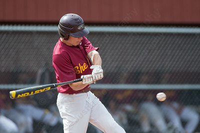 Sheehan's Nolan Cloutier (5) gets on board Friday at Sheehan High School during the Class M quarter finals in Wallingford  Jun. 5, 2015 | Justin Weekes / For the Record-Journal