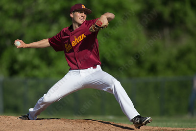 Sheehan's Nick Cerasale came in for the Titans to close the game out Tuesday at Neubauer Field in Wallingford May. 31, 2016 | Justin Weekes / For the Record-Journal