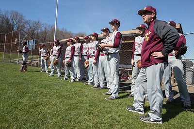 Sheehan watches Platt warm up before a preseason game Wednesday at Platt High School in Meriden Mar. 30, 2016 | Justin Weekes / For the Record-Journal