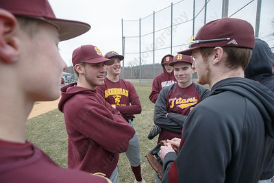 Sheehan gets ready before a pre-season scrimmage Tuesday with Notre Dame West Haven at West Side Field in Wallingford  March 20, 2018 | Justin Weekes / Special to the Record-Journal