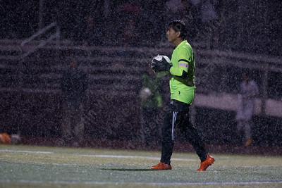 Sheehan's Nicolas Trivino Martinez looks for a open man Wednesday at Riccitelli Field in Wallingford October 25, 2017 | Justin Weekes / For the Record-Journal