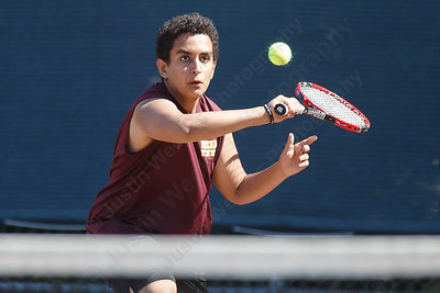 Sheehan's Aymen Tayoubi-Idrissi Thursday at Sheehan High School in Wallingford May 24, 2018 | Justin Weekes / Special to the Record-Journal