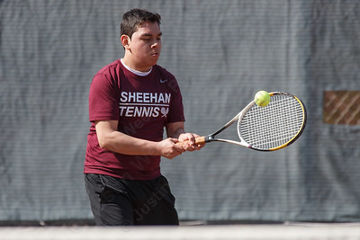 Sheehan's Michael Gomez Wednesday at Sheehan High School in Wallingford April 11, 2018 | Justin Weekes / Special to the Record-Journal