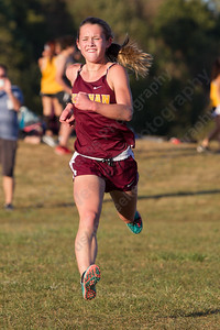 Sheehan's Elisabeth Brown finished first for the Titans Tuesday during the Neubauer Invitational at Sheehan High School in Wallingford October 3, 2017 | Justin Weekes / For the Record-Journal