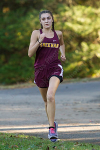 Sheehan's Sydney Carim finished second for the Titans Thursday at Wharton Brook State Park in North Haven October 12, 2017 | Justin Weekes / For the Record-Journal