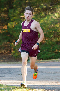 Sheehan's Benjamin Gardiner finishe second for the Titans Thursday at Wharton Brook State Park in North Haven October 12, 2017 | Justin Weekes / For the Record-Journal