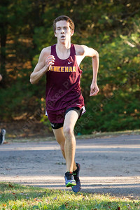 Sheehan's Stephen Fengler finished first for the Titans Thursday at Wharton Brook State Park in North Haven October 12, 2017 | Justin Weekes / For the Record-Journal