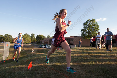 Sheehan's Elisabeth Brown on the up hill Tuesday during the Neubauer Invitational at Sheehan High School in Wallingford October 3, 2017 | Justin Weekes / For the Record-Journal