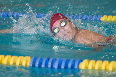 Sheehan's Olivia Wilson swims the 200 freestyle Monday at Sheehan High School in Wallingford September 11, 2017 | Justin Weekes / For the Record-Journal