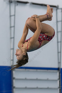 Sheehan's Marissa Soldi completes a dive Monday at Cheshire Community Pool in Cheshire September 18, 2017 | Justin Weekes / For the Record-Journal