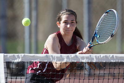 Sheehan's Christina Cappola Thursday at Sheehan High School in Wallingford April 26, 2018 | Justin Weekes / Special to the Record-Journal