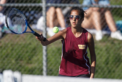 Sheehan's Rishima Patel Tuesday at Doolittle Park in Wallingford May 8, 2018 | Justin Weekes / Special to the Record-Journal