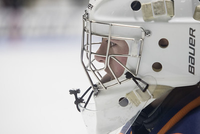 Lyman Hall's Andrew Sacco focused on the faceoff Thursday during the CIAC Division III final at Ingalls Rink on the campus of Yale University March 14, 2019 | Justin Weekes / Special to the Record-Journal