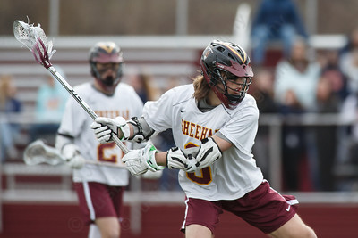 Sheehan's Weston Terzi gets a shot off Monday at Sheehan High School in Wallingford April 9, 2018 | Justin Weekes / Special to the Record-Journal