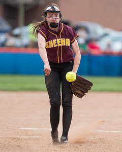Sheehan's Erin Dighello Friday at Lyman Hall High School in Wallingford Apr. 22, 2016 | Justin Weekes / For the Record-Journal