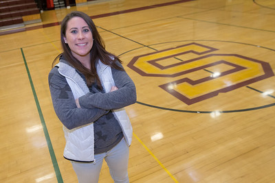 Sheehan new head softball coach Sarah Wyant Wednesday at Sheehan High Schol in Wallingford  Jan. 25, 2017 | Justin Weekes / For the Record-Journal