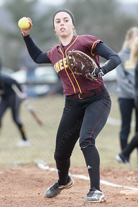 Sheehan's Samantha Iannone Tuesday at Sheehan High School in Wallingford March 27, 2018 | Justin Weekes / Special to the Record-Journal