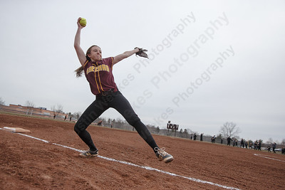 Sheehan's Erin Dighello warms up for a pre-scrimmage with Amity Tuesday at Sheehan High School in Wallingford March 27, 2018 | Justin Weekes / Special to the Record-Journal