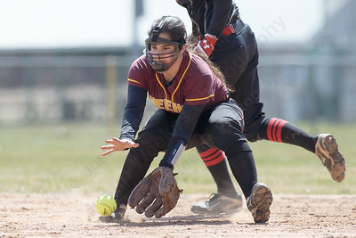 Sheehan's Nicole Dorsey field a ground ball at short Sunday at Pragemann Park in Wallingford April 8, 2018 | Justin Weekes / Special to the Record-Journal
