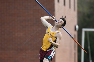 Sheehan's Andrew Mansfield Friday at Lyman Hall High School in Wallingford May 4, 2018 | Justin Weekes / Special to the Record-Journal