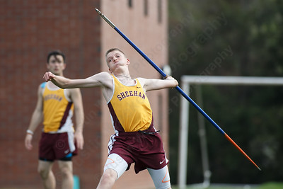 Sheehan's Sean Murphy  Friday at Lyman Hall High School in Wallingford May 4, 2018 | Justin Weekes / Special to the Record-Journal