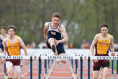 Lyman Hall's Tylor Seamans Friday at Lyman Hall High School in Wallingford May 4, 2018 | Justin Weekes / Special to the Record-Journal