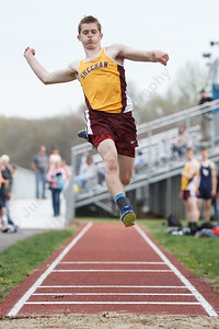 Sheehan's Maxwell Luddy Friday at Lyman Hall High School in Wallingford May 4, 2018 | Justin Weekes / Special to the Record-Journal