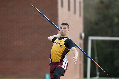 Sheehan's Christopher Lombardo Friday at Lyman Hall High School in Wallingford May 4, 2018 | Justin Weekes / Special to the Record-Journal