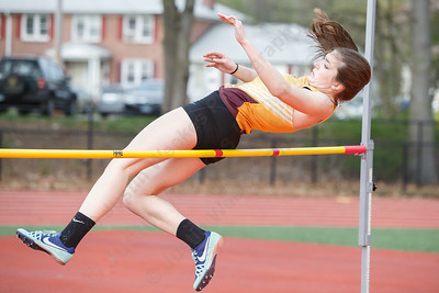 Sheehan's Kyra Connolly Friday at Lyman Hall High School in Wallingford May 4, 2018 | Justin Weekes / Special to the Record-Journal