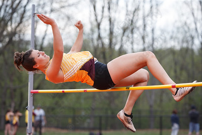Sheehan's Paige Mantzaris Friday at Lyman Hall High School in Wallingford May 4, 2018 | Justin Weekes / Special to the Record-Journal