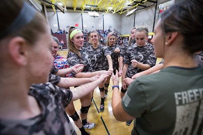 Sheehan gets ready to face North Haven Wednesday during a Military appreciation game at Sheehan High School in Wallingford October 18, 2017 | Justin Weekes / For the Record-Journal