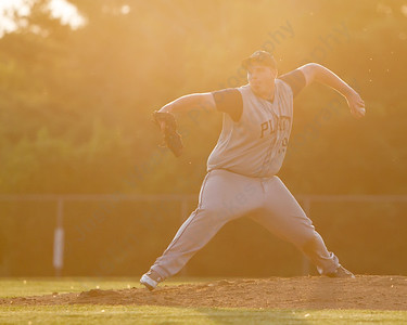 Platt's Tyler DeCosta (19) delivers a pitch Tuesday at Ceppa Field in Meriden May. 26, 2015 | Justin Weekes / For the Record-Journal