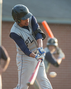 Platt's Dylan Dudley (4) leads off with a triple Tuesday at Ceppa Field in Meriden May. 26, 2015 | Justin Weekes / For the Record-Journal