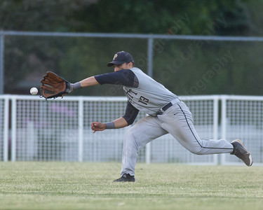 Platt's Jordan Baggiero fields a ground ball to center Tuesday at Ceppa Field in Meriden May. 26, 2015 | Justin Weekes / For the Record-Journal