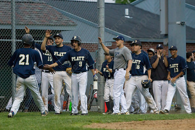 Platt celebrates Jeffrey Morales Rosario score Monday at Ceppa Field in Meriden May,23 2016 | Justin Weekes For the Record-Journal